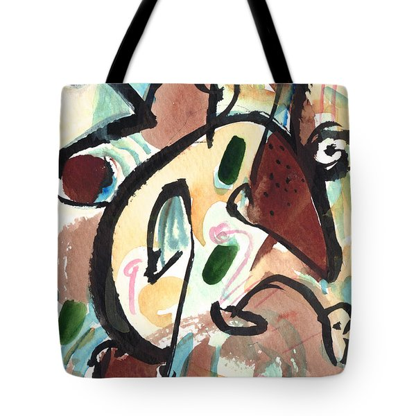 Tote Bag featuring the painting The Conversation 2 by Stephen Lucas