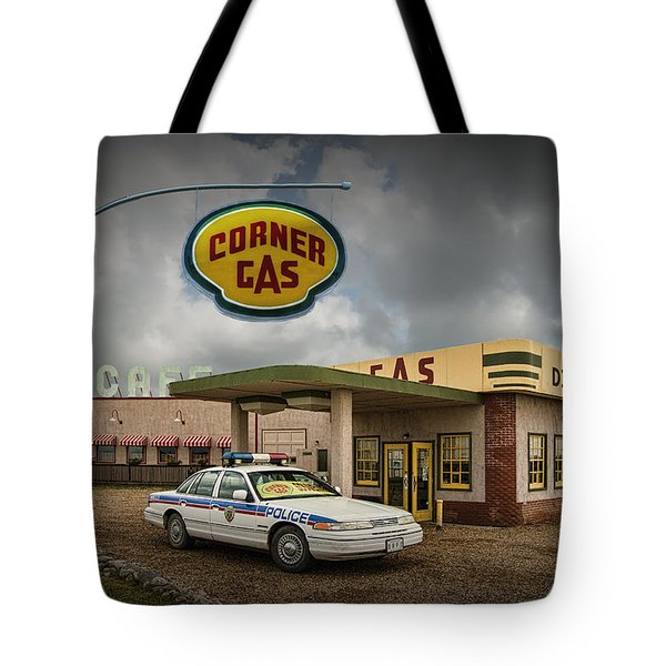 The Corner Gas Station From The Canadian Tv Sitcom Tote Bag