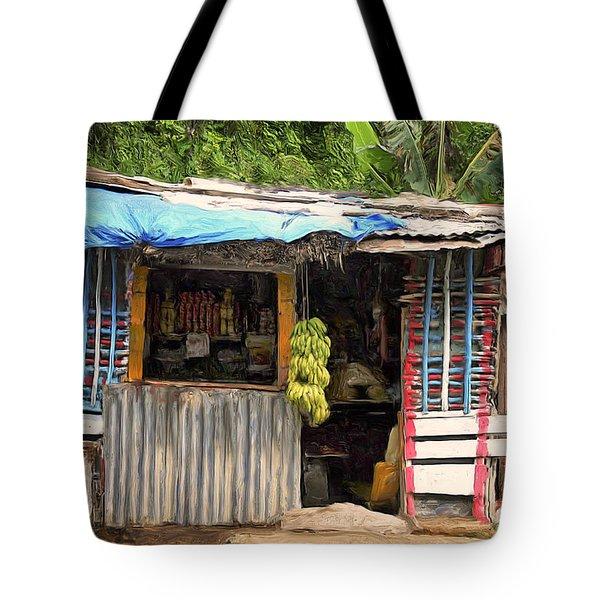 The Corner Market Tote Bag