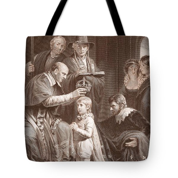 The Coronation Of Henry Vi, Engraved Tote Bag by John Opie