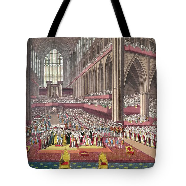 The Coronation Of King William Iv And Queen Adelaide, 1831 Colour Litho Tote Bag by English School