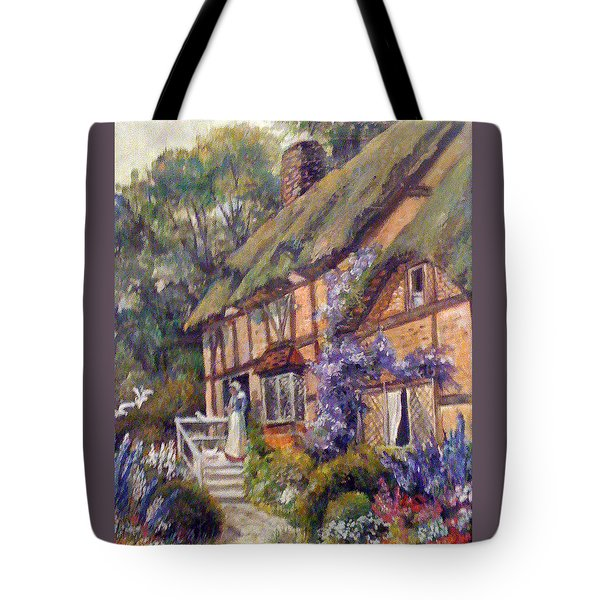 The Cottage Tote Bag by Donna Tucker