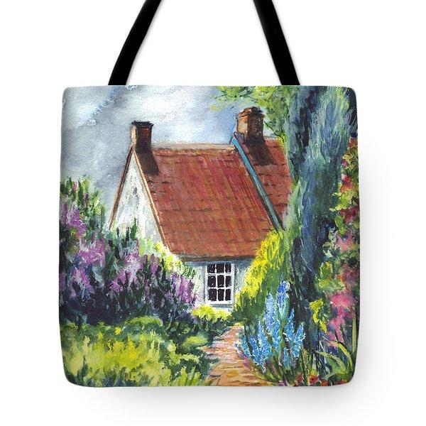 The Cottage Garden Path Tote Bag by Carol Wisniewski