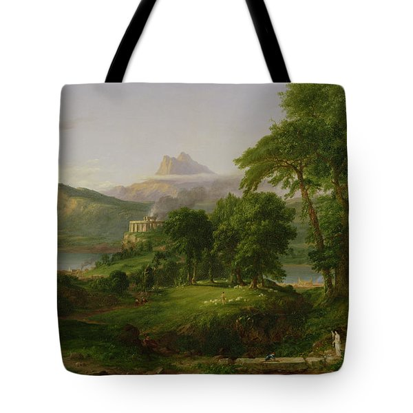 The Course Of Empire   The Arcadian Or Pastoral State Tote Bag