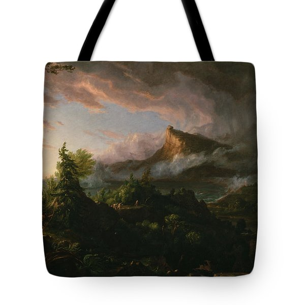 The Course Of Empire The Savage State  Tote Bag