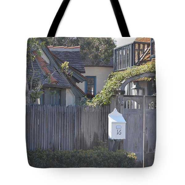 Tote Bag featuring the photograph The Courtyard  by Laurie Lundquist