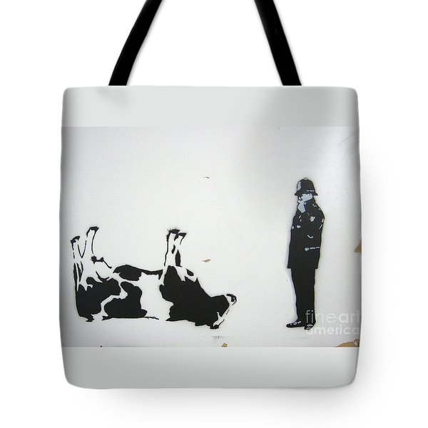 The Cow Tote Bag by Bela Manson