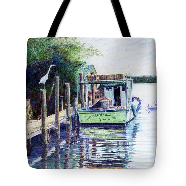 The Crabby Kim Tote Bag by Roger Rockefeller