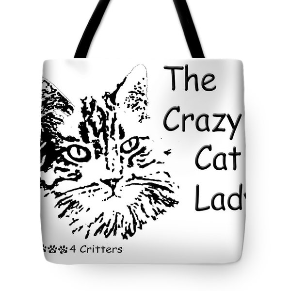 Tote Bag featuring the photograph The Crazy Cat Lady by Robyn Stacey