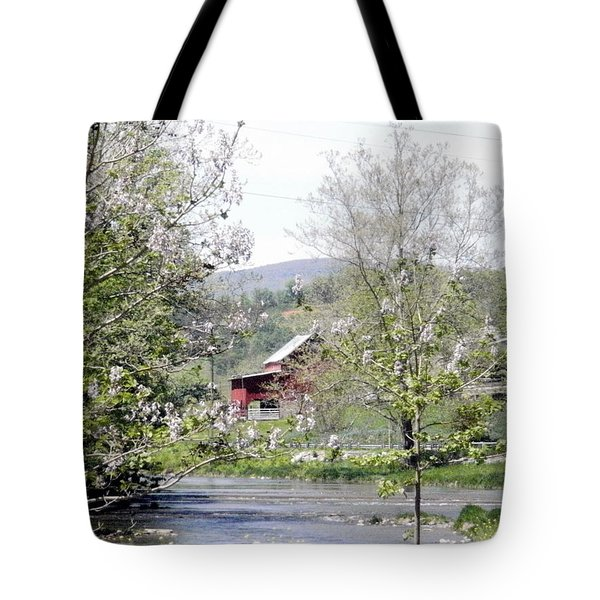 Tote Bag featuring the photograph The Creek by Cathy Shiflett