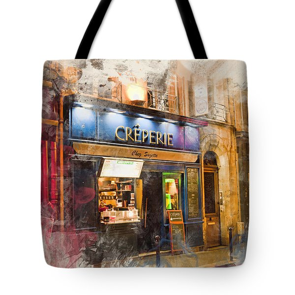 The Creperie Tote Bag by Evie Carrier