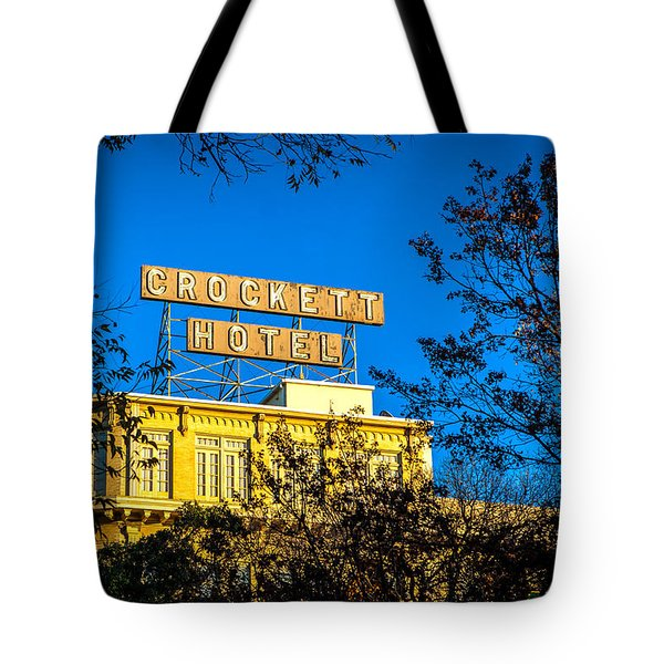 The Crockett Hotel Tote Bag