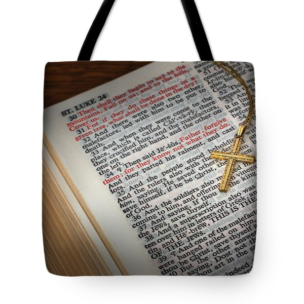 The Cross Of Jesus Tote Bag by David and Carol Kelly