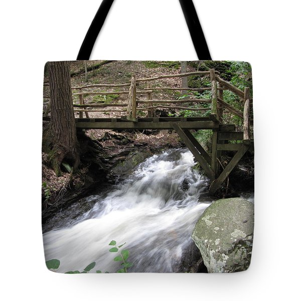 Tote Bag featuring the photograph The Crossing by Richard Reeve