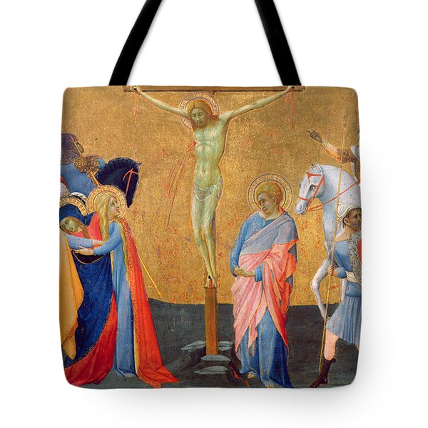 The Crucifixion Tote Bag by Master of the Madonna of San Pietro of Ovila