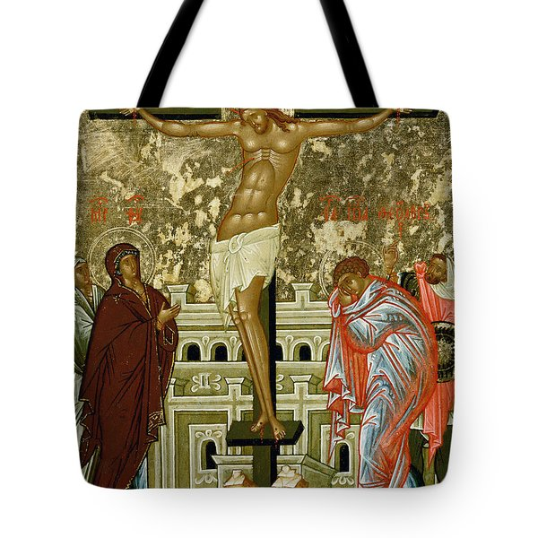 The Crucifixion Of Our Lord Tote Bag by Novgorod School