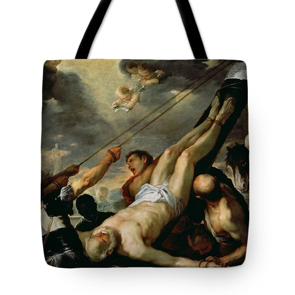 The Crucifixion Of Saint Peter, C.1660 Oil On Canvas Tote Bag