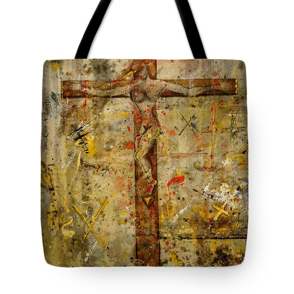 the Crucifying of the Sacred Feminine  Tote Bag