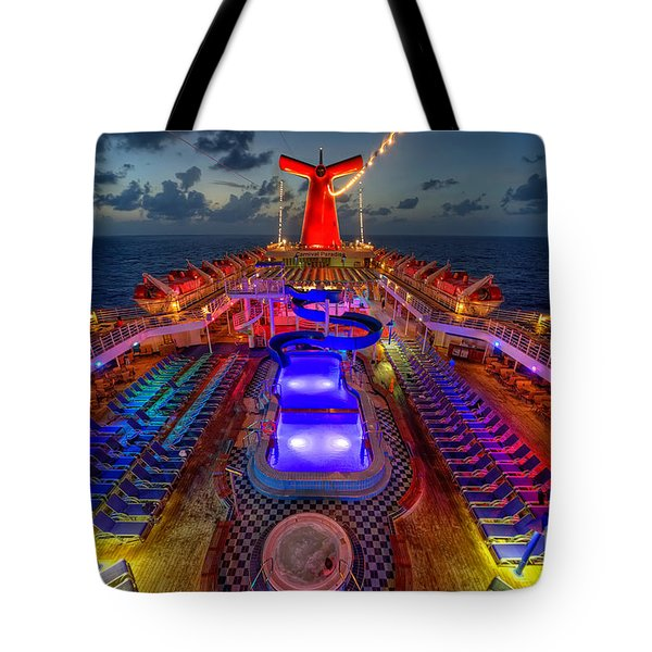 The Cruise Lights At Night Tote Bag