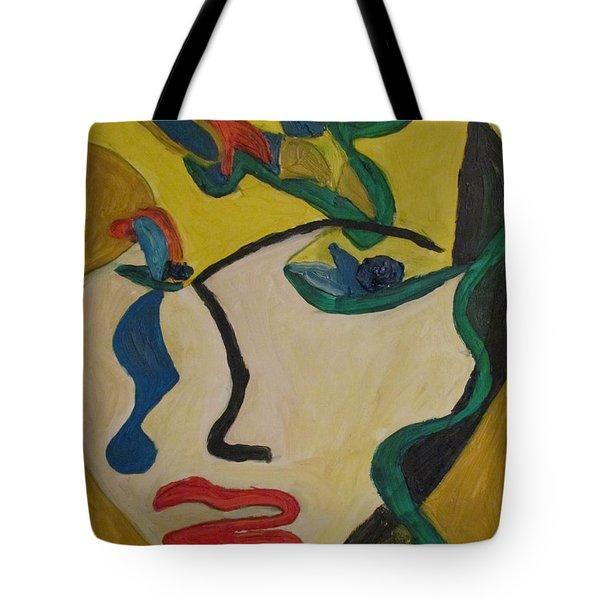 The Crying Girl Tote Bag