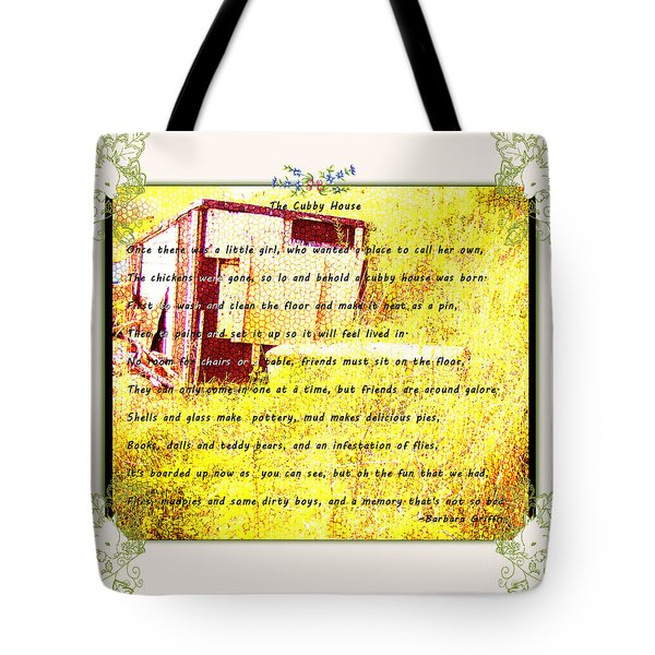 The Cubby House Tote Bag by Barbara Griffin
