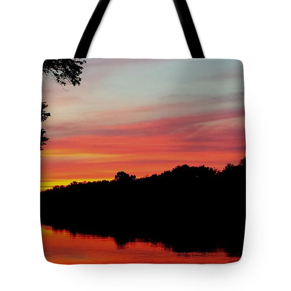 The Cumberland At Sunset Tote Bag by Chris Tarpening