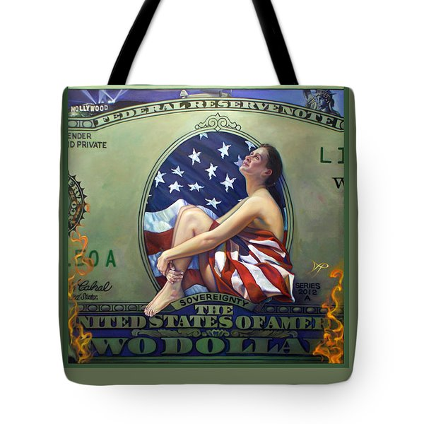 The Curse Of Freedom A Nation In Flames Tote Bag