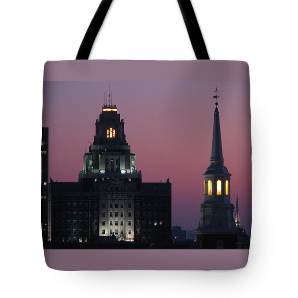 The Customs Building And Christ Church Tote Bag by Christopher Woods