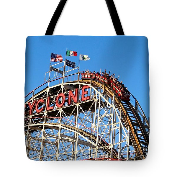 Tote Bag featuring the photograph The Cyclone by Ed Weidman