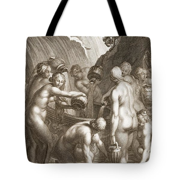 The Danaids Condemned To Fill Bored Tote Bag by Bernard Picart