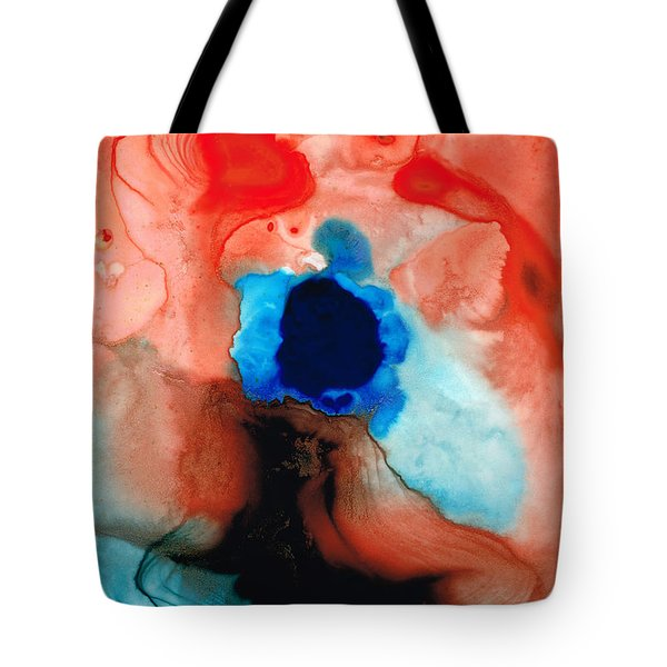 The Dancer - Abstract Red And Blue Art By Sharon Cummings Tote Bag