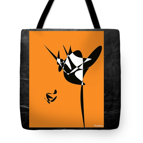 Tote Bag featuring the digital art The Dancer by Karo Evans