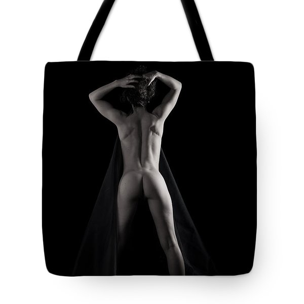The Dark Curve In Black And White Tote Bag