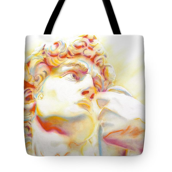 The David By Michelangelo. Tribute Tote Bag