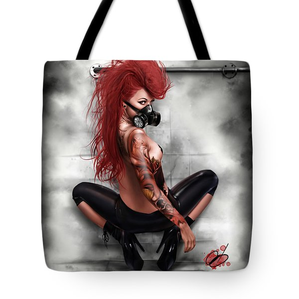 Tote Bag featuring the painting The Day After by Pete Tapang