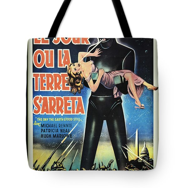 The Day The Earth Stood Still Vintage Poster Tote Bag by Bob Christopher