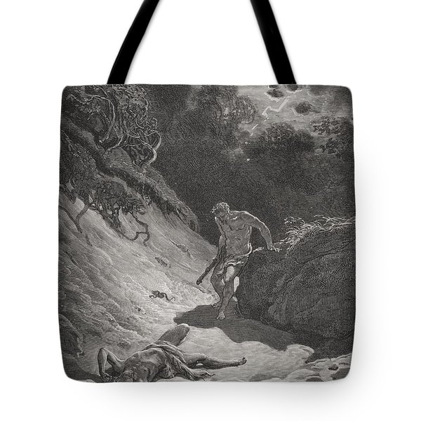 The Death Of Abel Tote Bag by Gustave Dore
