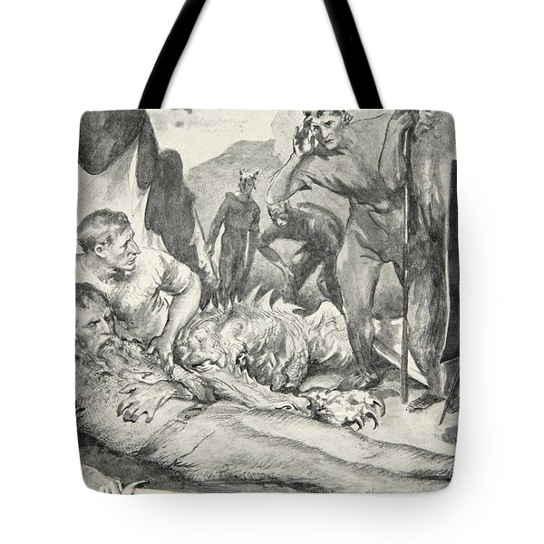 The Death Of Beowulf Tote Bag by John Henry Frederick Bacon