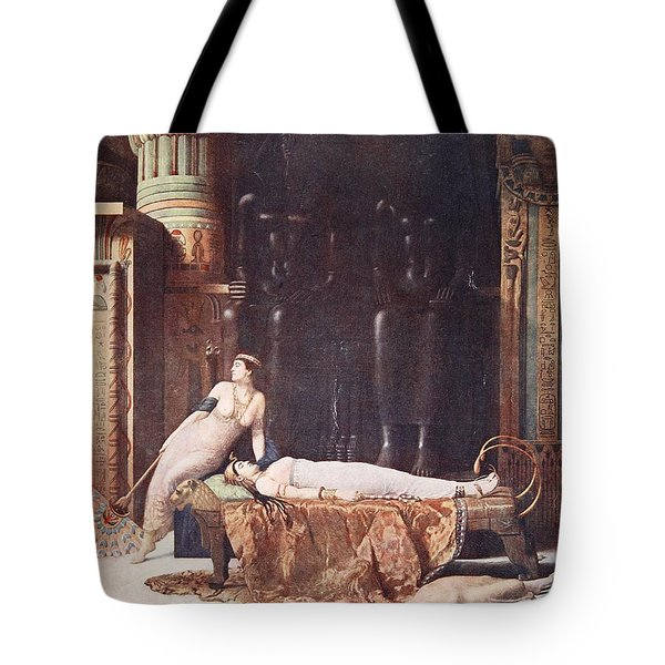 The Death Of Cleopatra, Illustration Tote Bag