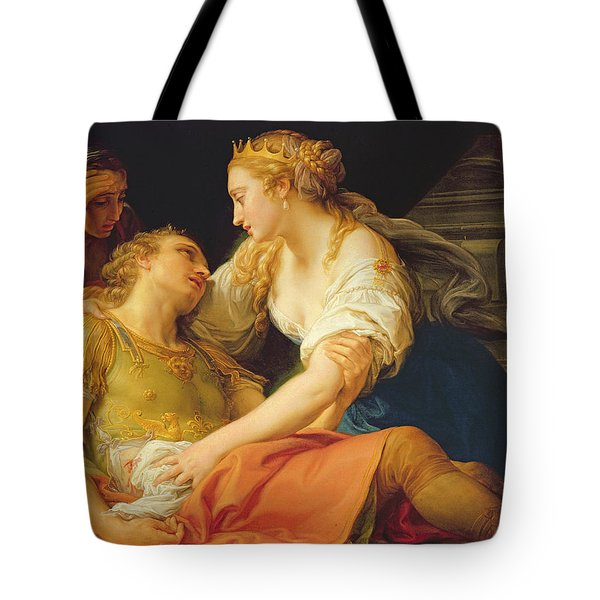 The Death Of Marc Anthony, 1763 Oil On Canvas Tote Bag