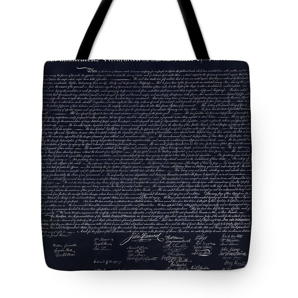 The Declaration Of Independence In Negative  Tote Bag by Rob Hans
