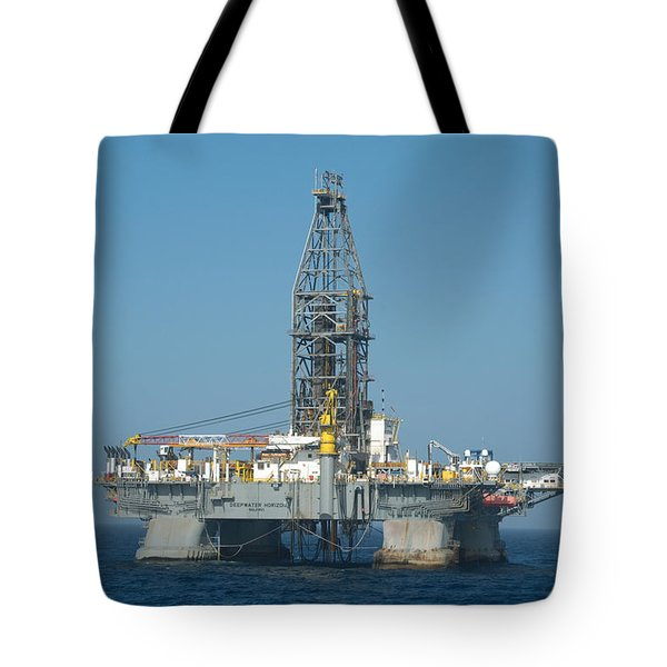 Tote Bag featuring the photograph The Deepwater Horizon by Bradford Martin