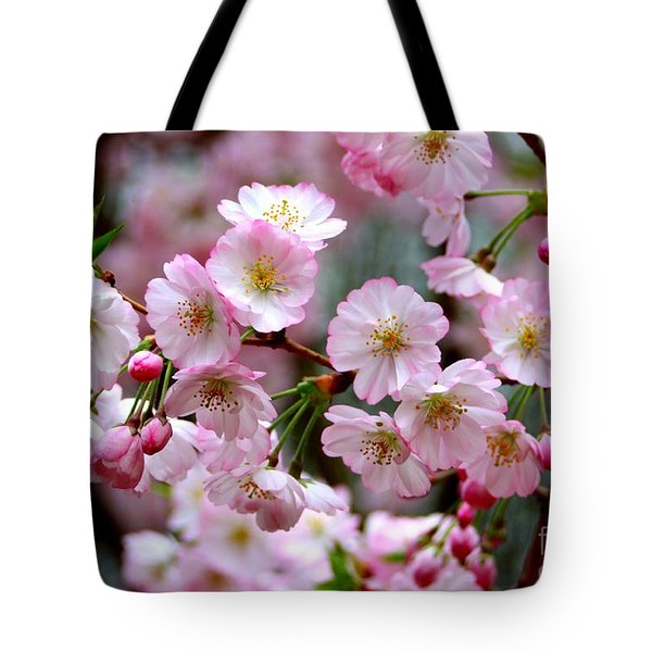 The Delicate Cherry Blossoms Tote Bag by Patti Whitten