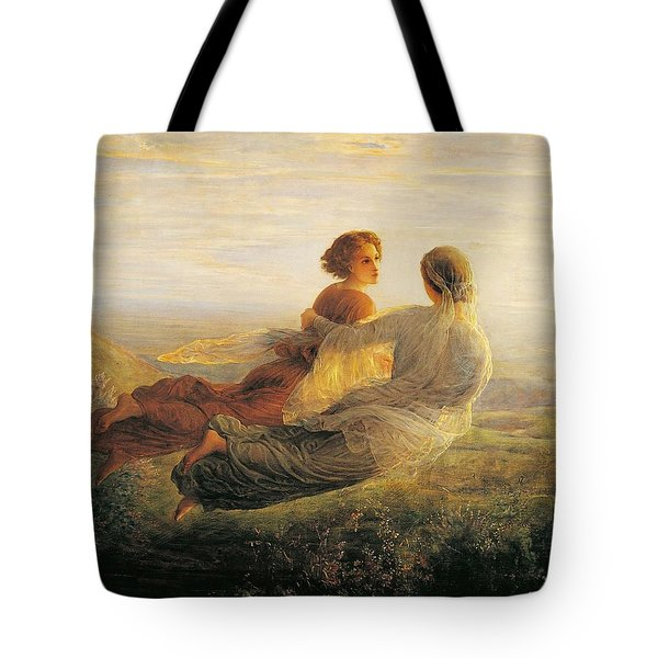 The Departure Of The Soul Tote Bag by Louis Janmot