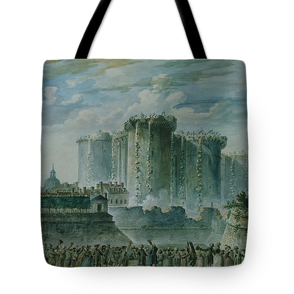 The Destruction Of The Bastille, 14th July 1789 Wc & Gouache On Paper Tote Bag