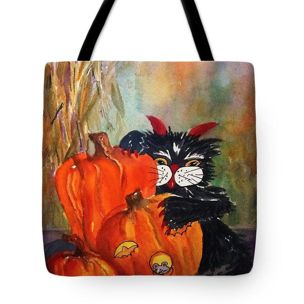 The Devil Made Me Do It Tote Bag by Ellen Levinson