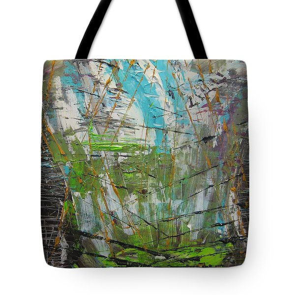 Tote Bag featuring the painting The Dirty Window by Lucy Matta