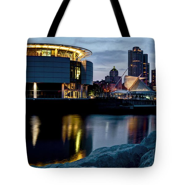 Tote Bag featuring the photograph The Discovery Of Miwaukee by Deborah Klubertanz