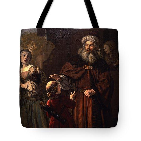 The Dismissal Of Hagar, 1650 Tote Bag by Jan Victors