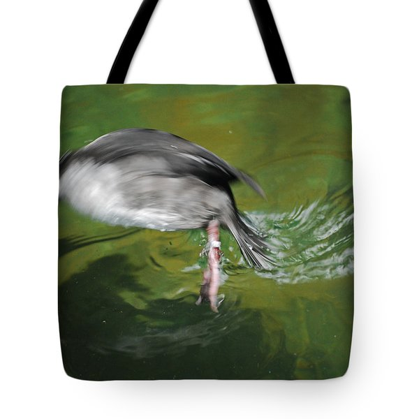 Tote Bag featuring the photograph The Dive by Maggy Marsh